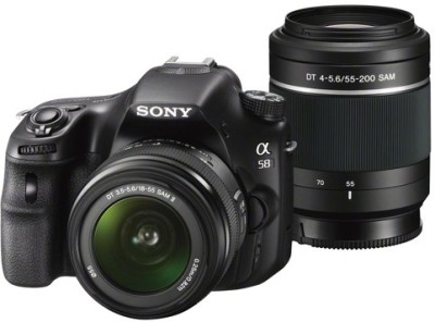 Sony Alpha SLT-A58Y (Body with DT 18 - 55 mm F3.5 - 5.6 SAM II and DT 55 - 200 mm F4 - 5.6 SAM) DSLR Camera Rs 25418 only flipkart