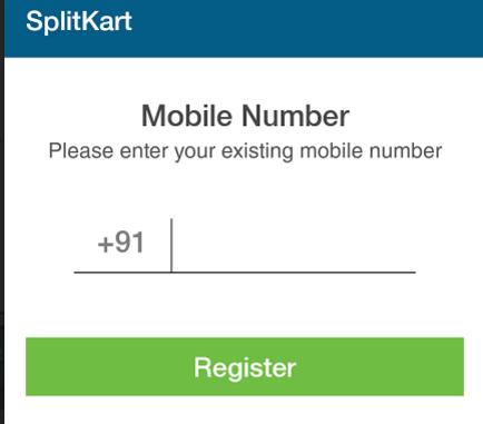 splitkart register for new account mobile number