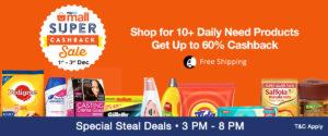 Paytm Mall Super Cashback- Sale 1-3 December