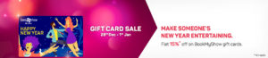 flat 15% Off on Bookmyshow Gift Cards