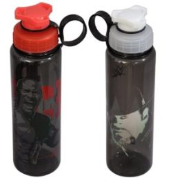 Amazon- Buy WWE Superstar The Rock and Undertaker Plastic Sipper Bottle Set, 700ml, Set of 2, Multicolour at Rs 186