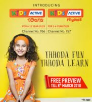 Dish TV- Get Kids Active Toons and Kids Active Rhymes Channel