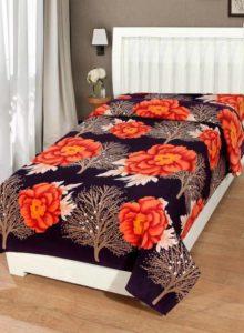 KIHOME Polycotton Floral Single Bedsheet