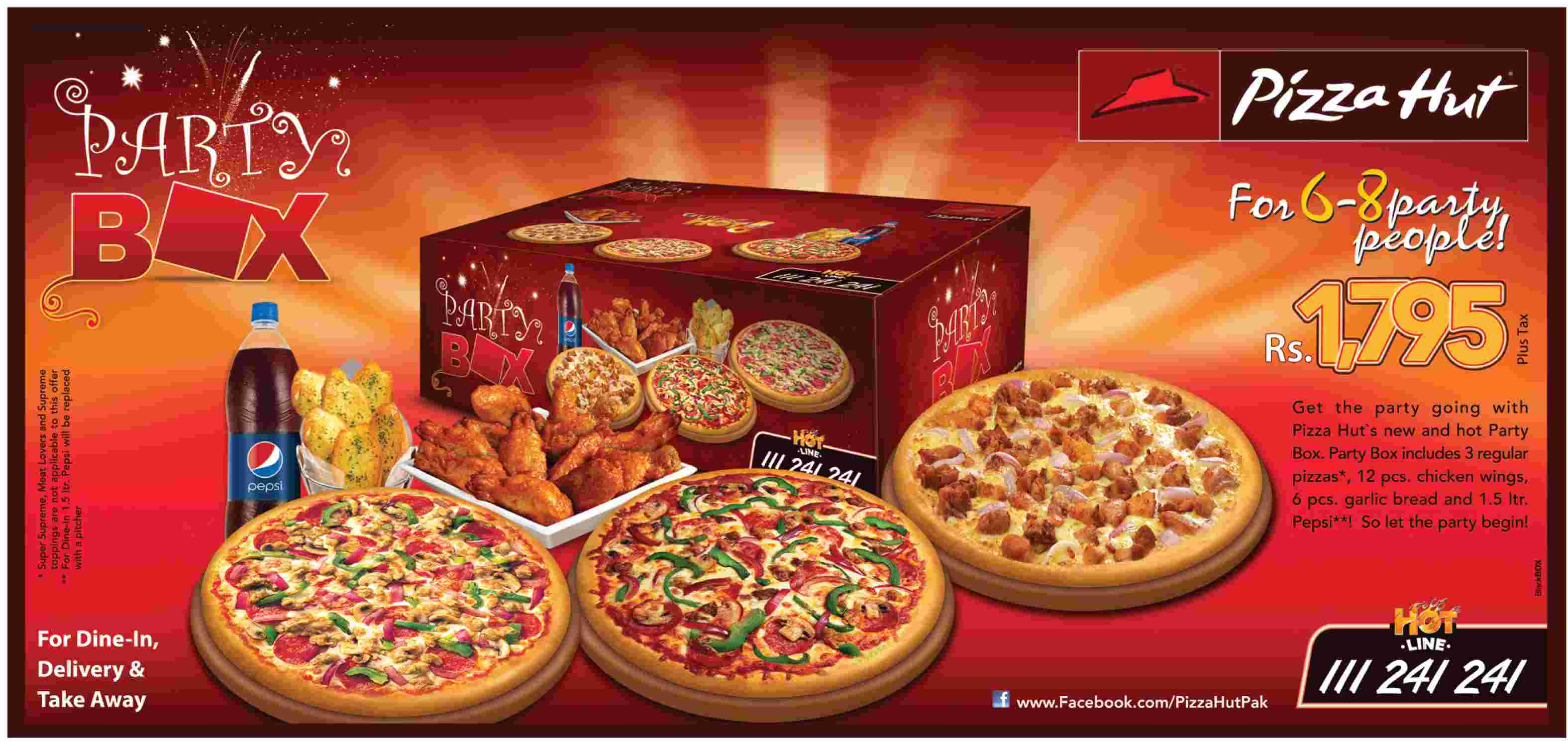 Deals In Pakistan Pizza Hut PARTY BOX - Childrens birthday parties pizza hut