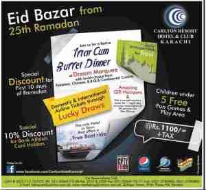 Carlton Resort Karachi Ramadan Deal 2012