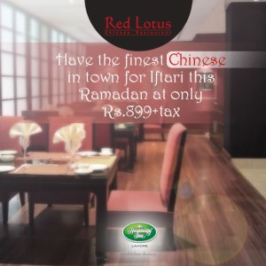 Red Lotus Lahore Iftar Deal 2013 Buffet Dinner Hospitality Inn