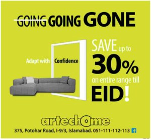 Artechome Interiors Islamabad Eid Sale 2013