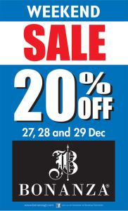 Bonanza Winter Collection Sale December 2013