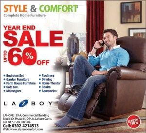 Style & Comfort Furniture Lahore Sale December 2013