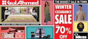 Gul Ahmed Ideas Sales 2014