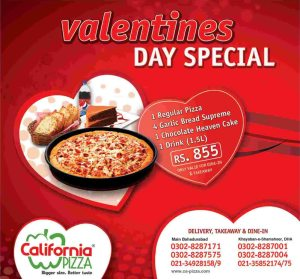 California Pizza Karachi Deal 2014
