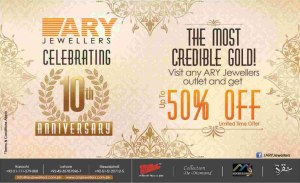 ARY Jewellers Discount Offer 2014 up to 50%