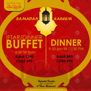Lal Qila Hyderabad Iftar Deals 2014 Buffet Dinner