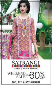 Bonanza Satrangi Sale August 2015