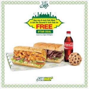 Subway Ramadan Deal 2016 for Iftar