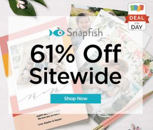snapfish 61% off