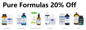 pure formulas 20% off