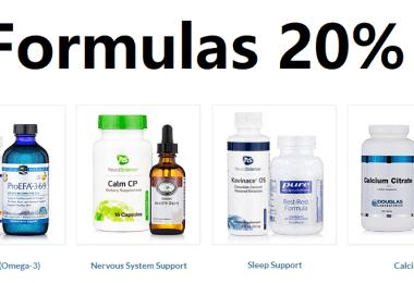 pure formulas 20% off
