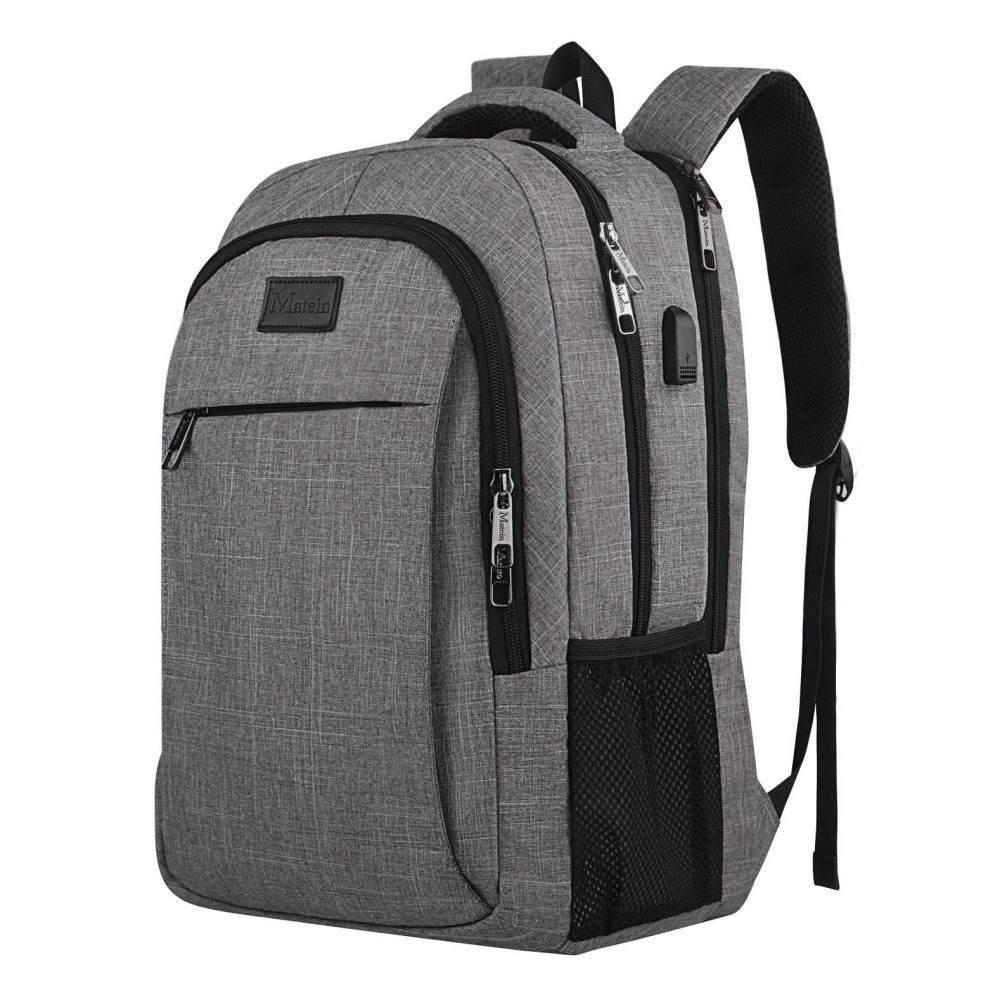 Matein Anti Theft Slim Durable Laptop Backpack With