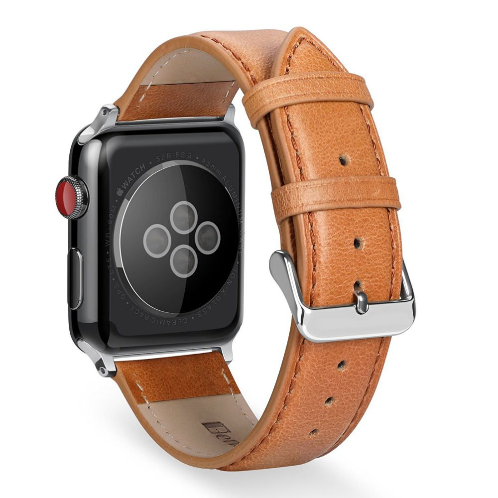 Benuo Apple Watch Series 3 Band Premium Genuine Leather Strap