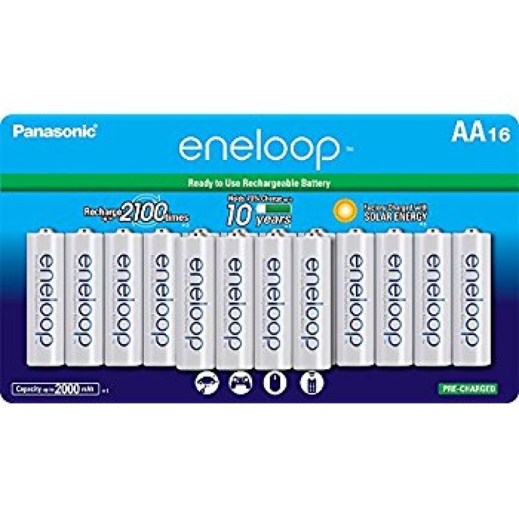 Amazon.com: Panasonic BK-3MCCA16FA eneloop AA 2100 Cycle Ni-MH Pre-Charged Rechargeable Batteries, (package includes 16AA blue or 16AA white): PANASONIC: Home Audio & Theater