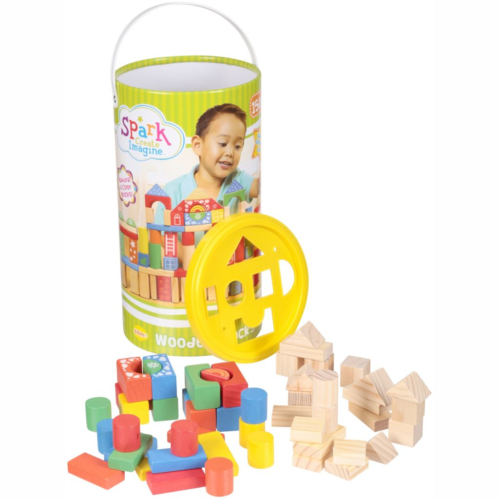 Spark Create Imagine™ Wooden Blocks 150 pc. Canister - Walmart.com