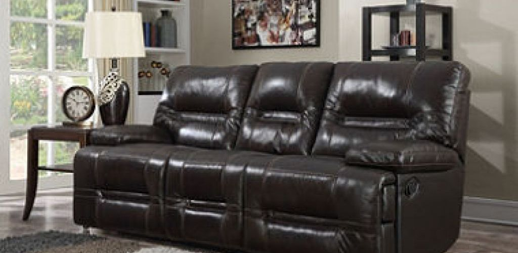 Buy Top Grain Leather Reclining Sofa for $1,499 (Was $1685.00)