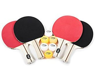 Buy 4-Player Table Tennis Racket Set for $15.32