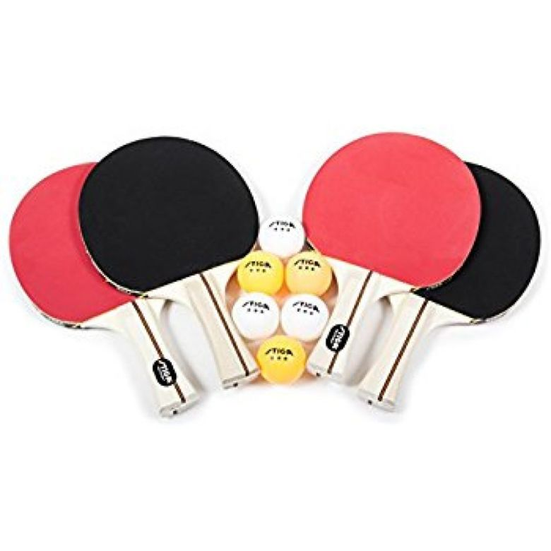 Amazon.com : STIGA Performance 4-Player Table Tennis Racket Set : Ping Pong Paddles : Sports & Outdoors