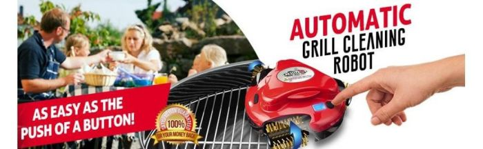 Amazon.com : Grillbot Automatic Grill Cleaner, Orange : Garden & Outdoor