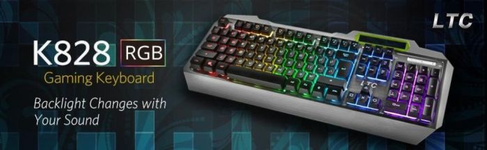Amazon.com: LeaningTech LTC K828 104 Key Anti-Ghosting RGB Programmable LED Backlit USB Wired Waterproof Gaming Keyboard with Voice Control Illuminated Function for PC Games Office - US Layout: Computers & Accessories
