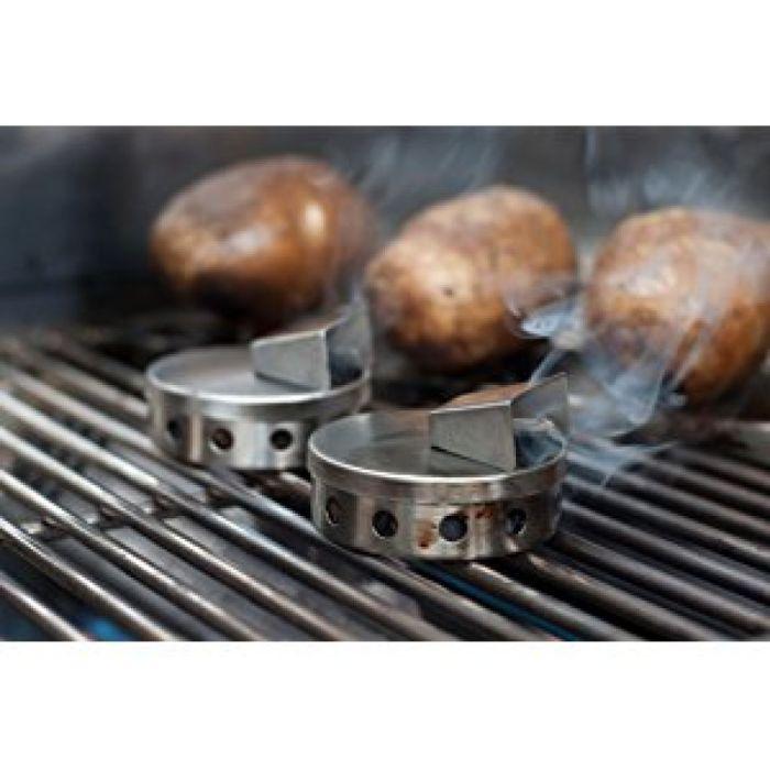 Amazon.com: Steven Raichlen Best of Barbecue SR8180 Stainless Smoke Pucks (Set of 2): Garden & Outdoor
