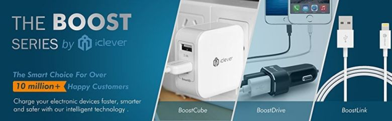 Amazon.com: iClever BoostCube 4.8A 24W Dual USB Travel Wall Charger with SmartID Technology, Foldable Plug for iPhone X / 8 / 7 / 7 Plus / 6S / 6 Plus, iPad Pro Air / Mini and Samsung S4/ S5, White: Cell Phones & Accessories