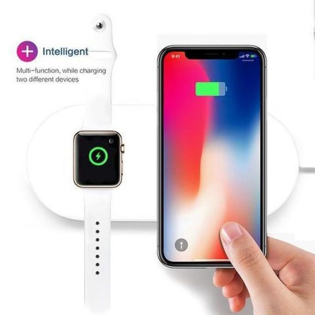 iPM 2 in 1 Wireless Charging Pad With Fast Qi Charger + Charger For Ap – Daily Steals