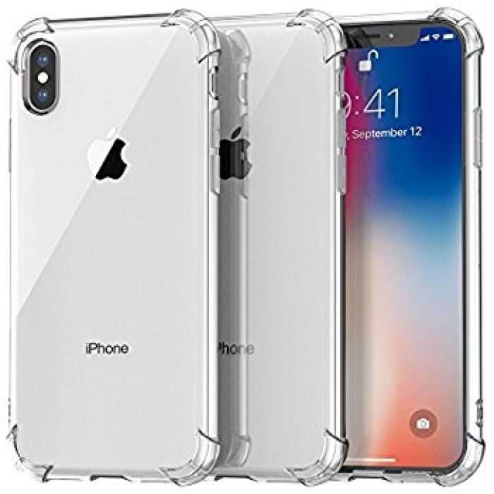 Amazon.com: iPhone X Case, Cambond Crystal Clear Soft TPU [3 Pack] iPhone X Bumper Air Cushion Slim Fit Flexible Cover Wireless Charging Scratch Resistant for Apple iPhone X (2017) Transparent: Cell Phones & Accessories