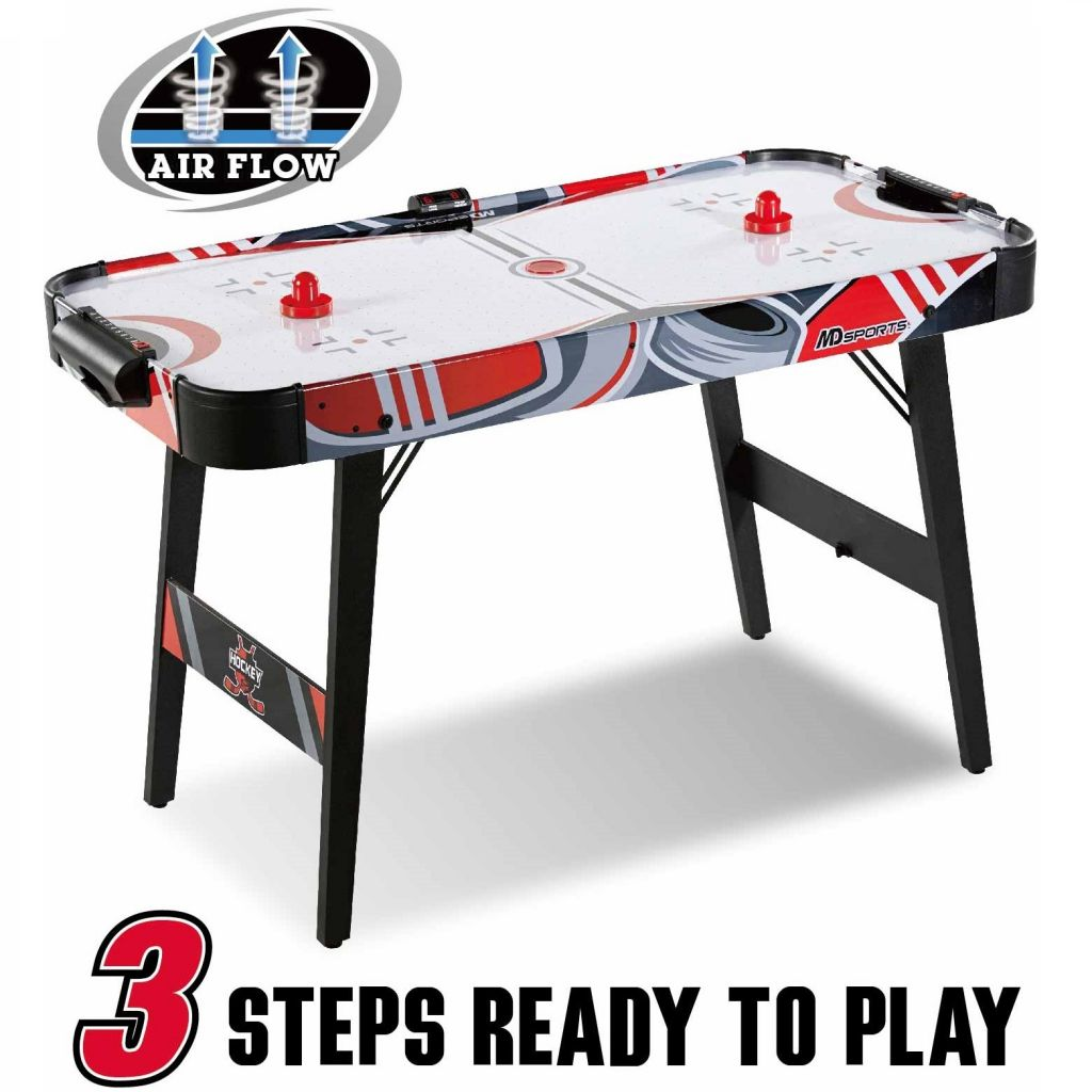 MD Sports Easy Assembly 48 Inch Air Powered Hockey Table, Space-Saving Design, Foldable Legs - Walmart.com