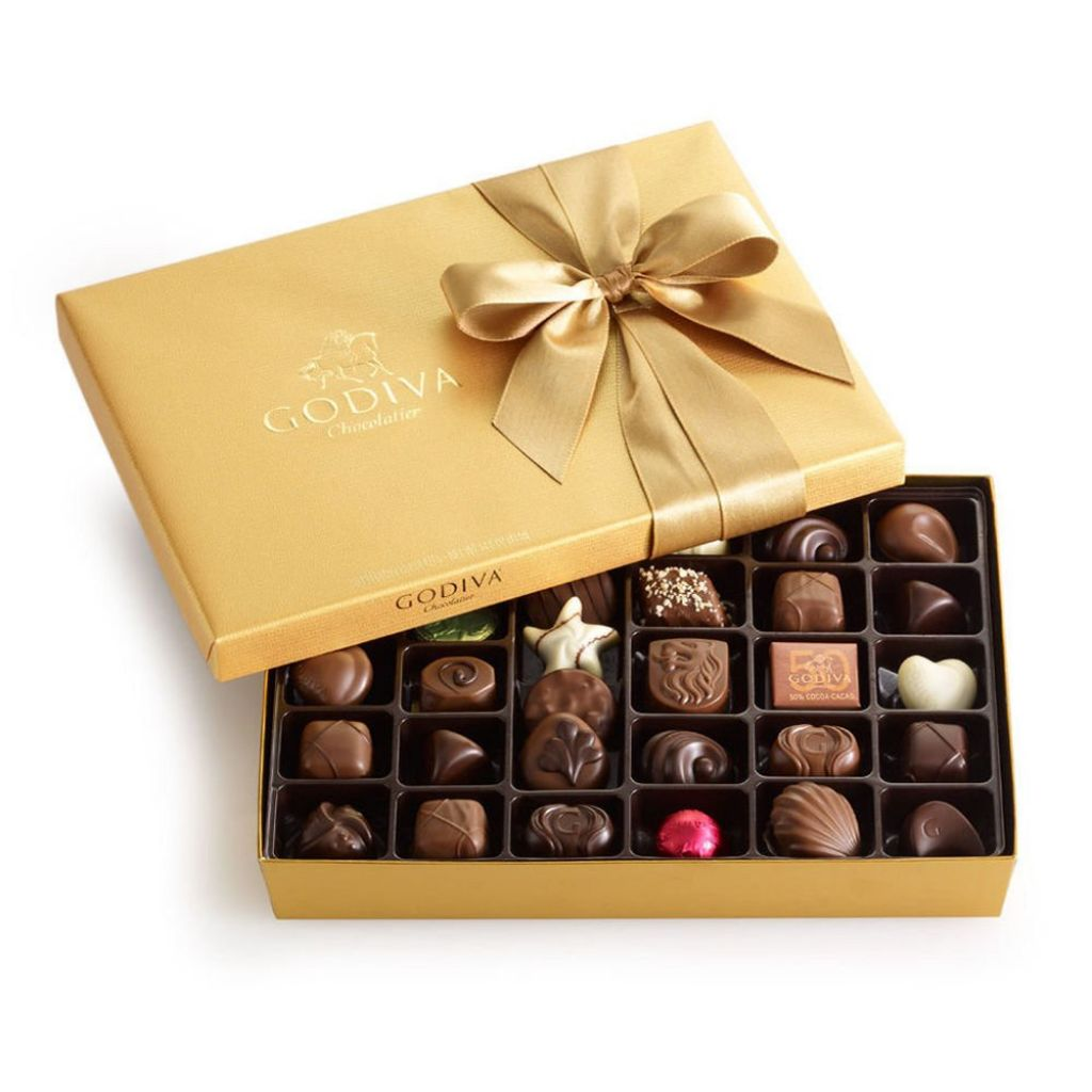 Amazon.com : Godiva Chocolatier Gold Ballotin Candy, Thank You, 36 Count : Grocery & Gourmet Food