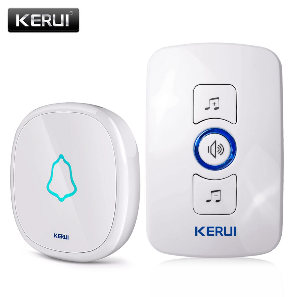 KERUI EU/US/UK Plug 32 Songs Optional Waterproof Touch Button Smart Home Welcome Doorbell Alarm Intelligent Wireless Doorbell-in Doorbell from Security & Protection on Aliexpress.com | Alibaba Group