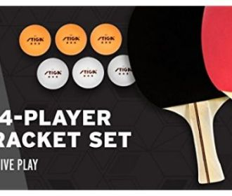 Buy 4-Player Table Tennis Racket Set for $14