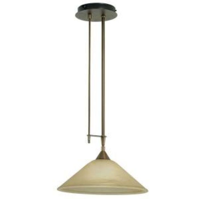 Eglo Madai 1-Light Bronze Hanging Pendant with Champagne Colored Glass Shade-20955A - The Home Depot
