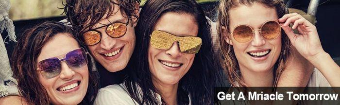 Amazon.com: GAMT Retro Candy Colorful Lens Sunglasses for women and men Classic Brand Designer Eyewear Glasses Black frame gray film: Clothing