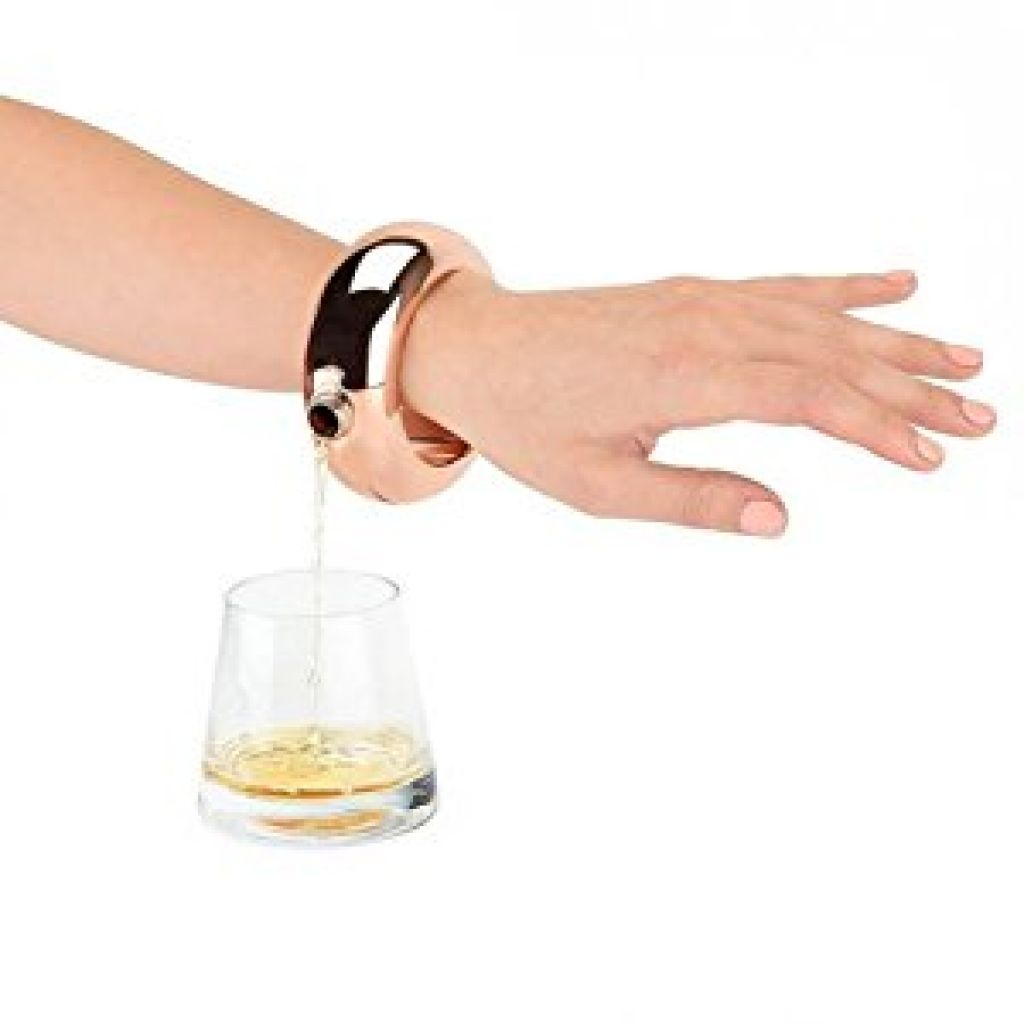 Amazon.com: Women's Bracelet Bangle Flask - Classy Rose Gold Stainless Steel | Wearable Cute | Spill Proof | Festival Ready | Wine Alcohol (Rose Gold)