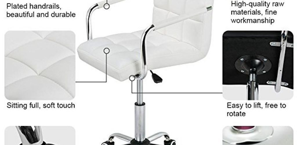 Buy Modern PU Leather Midback Adjustable Executive Office Chair for $42.74