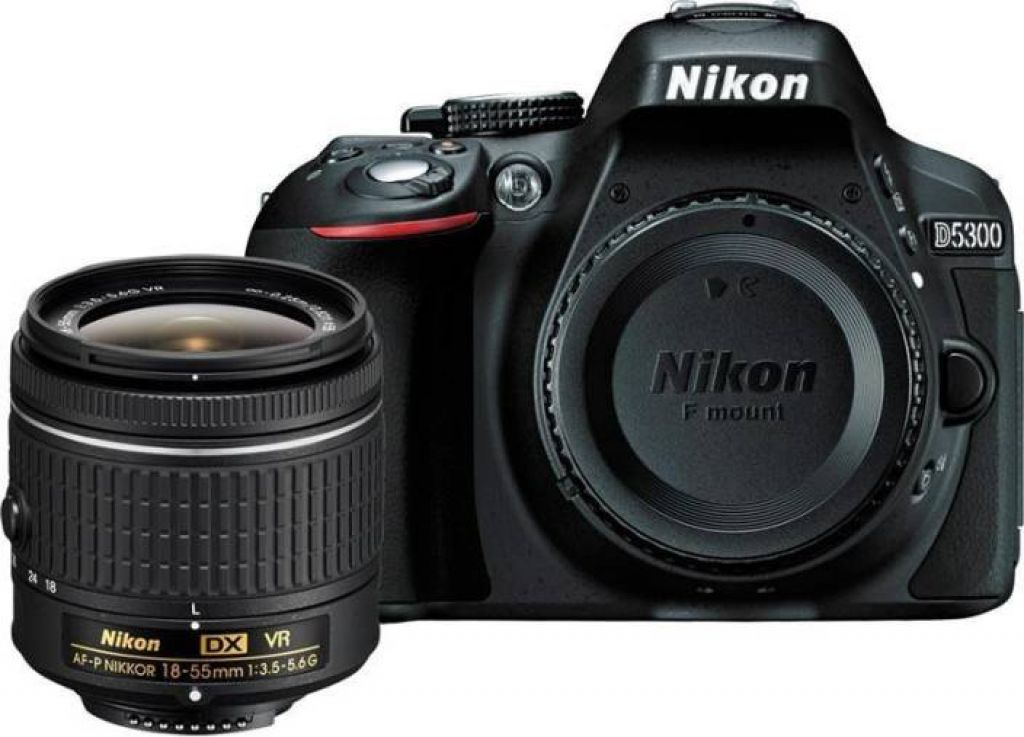 Nikon D5300 DSLR Camera Body with Single Lens: AF-P DX NIKKOR 18-55 mm f/3.5-5.6G VR Kit (16 GB SD Card + Camera Bag) Price in India - Buy Nikon D5300 DSLR Camera Body with Single Lens: AF-P DX NIKKOR 18-55 mm f/3.5-5.6G VR Kit (16 GB SD Card + Camera Bag) online at Flipkart.com