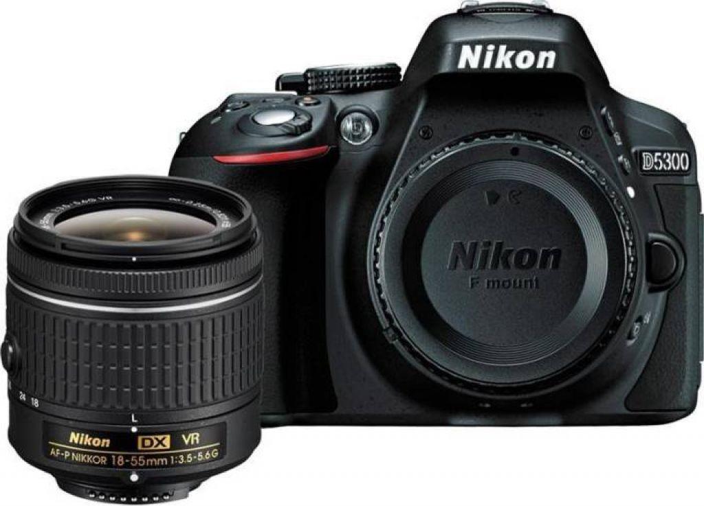 Nikon D5300 DSLR Camera Body with Single Lens: AF-P DX NIKKOR 18-55 mm f/3.5-5.6G VR Kit (16 GB SD Card + Camera Bag) Price in India - Buy Nikon D5300 DSLR Camera Body with Single Lens: AF-P DX NIKKOR 18-55 mm f/3.5-5.6G VR Kit (16 GB SD Card + Camera Bag) online at Flipkart.com