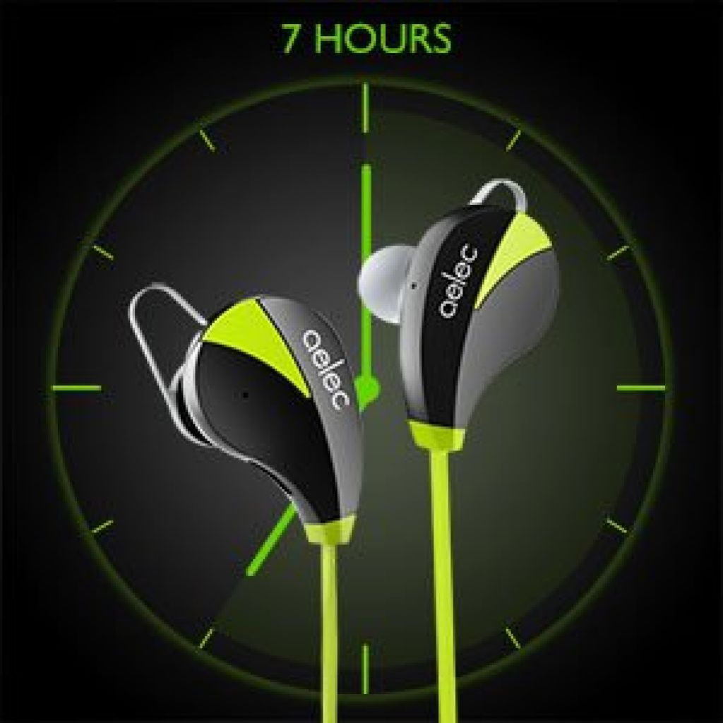 Amazon.com: AELEC Bluetooth Headphones Wireless Sports Earbuds Sweatproof Earphones Noise Cancelling Headsets with Mic for Running Jogging Long Battery Life: Cell Phones & Accessories