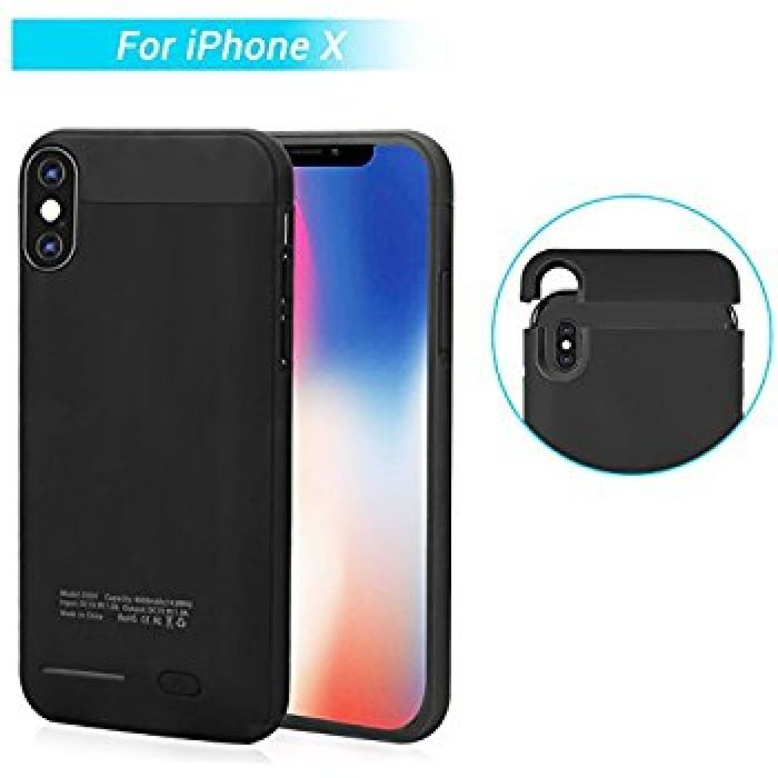 Amazon.com: iPhone X Charger Case Slim - XREXS Portable Protective Backup Power Bank, 4000mAh Rechargeable Charging Case for iPhone X/iPhone 10, Extended Slim Battery Case 5.8 Inch: Cell Phones & Accessories