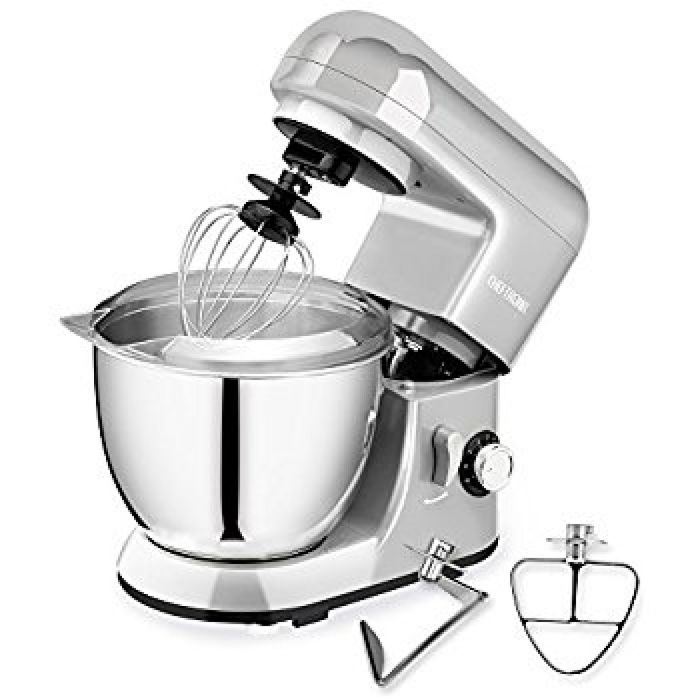 Amazon.com: CHEFTRONIC Stand Mixer, Kitchen Mixer, Electric Mixer, 120V 350W, 6 Speeds, Tilt-head, 4.2 QT Stainless Steel Bowl with Splash Guard, Dough Hook, Wire Whip, Flat Beater for Mother's Day.: Kitchen & Dining