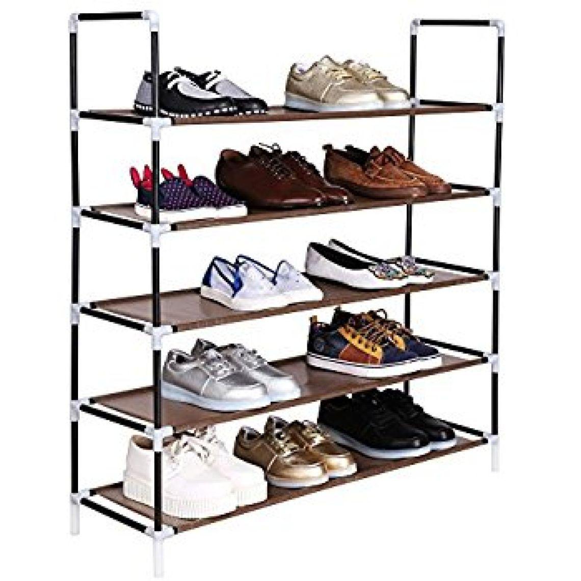 Amazon.com: Leoneva 5 Tiers Shoe Rack 25 Pairs Stand Shelf Shoes Organizer Storage Shoe Tower Organizer Cabinet: Home & Kitchen