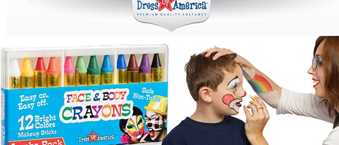 Buy 2 Color Face Paint Safe & Non-Toxic Face and Body Crayons – Halloween Makeup for $3.99 (Reg : $13.99)